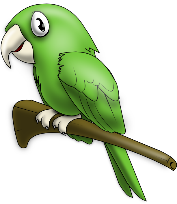 613x707 Green Parrot Clip Art Is Clipart Panda