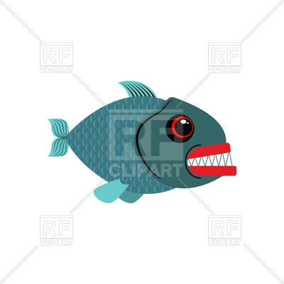 400x400 Piranha Isolated Royalty Free Vector Clip Art Image