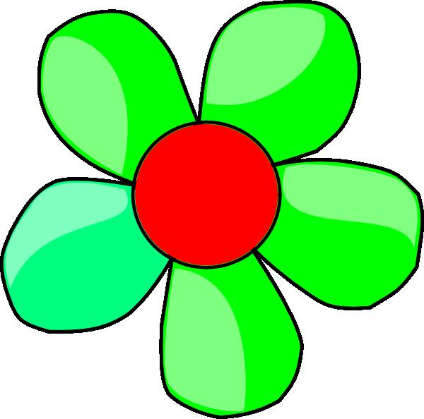 600x594 Green Flower Clip Art
