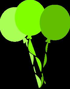 231x296 Green Party Balloons Clip Art