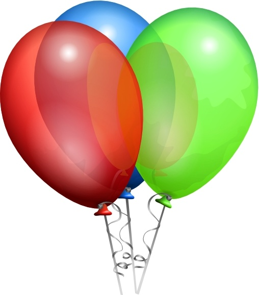 508x578 Party Helium Balloons Clip Art Free Vector In Open Office Drawing