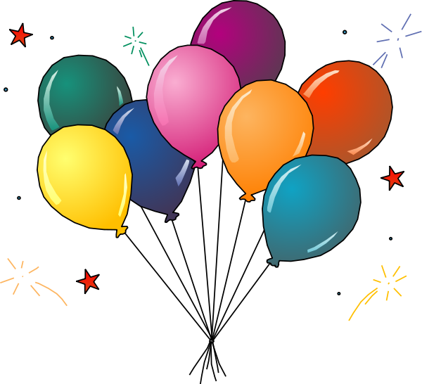 600x546 Party Balloons Clipart Party Clip Art 04
