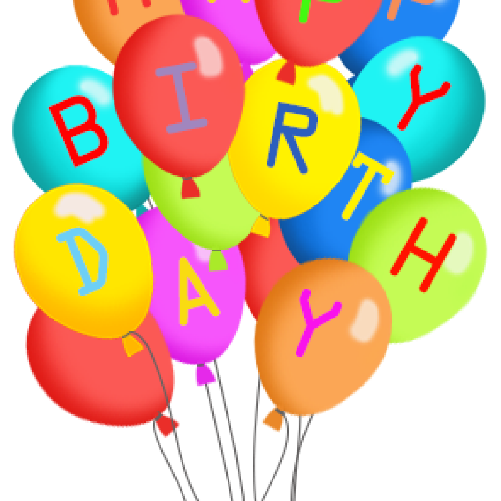 1024x1024 Birthday Balloons Clipart Apple Clipart