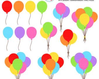 340x270 Birthday Party Clipart Set