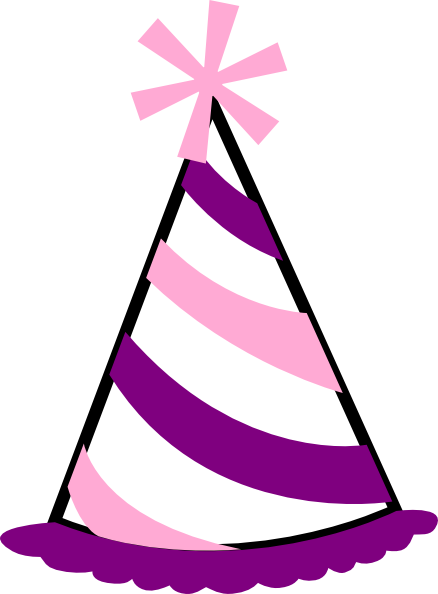 438x594 Lovely Design Ideas Party Hat Clipart Pink And Purple Clip Art