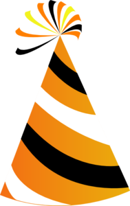 189x300 Orange And White Party Hat Clip Art