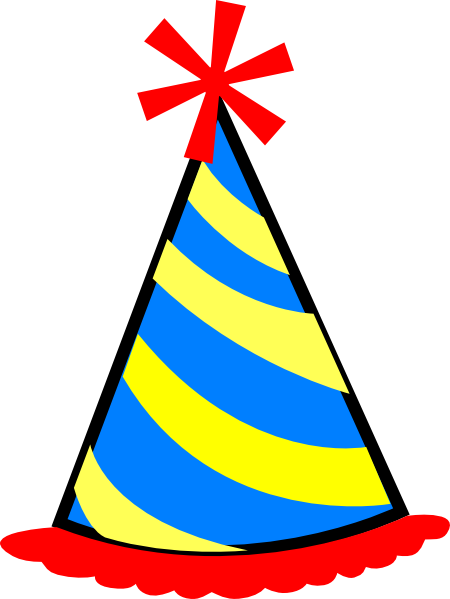 450x599 Party Hat Red Blue Yellow Clip Art