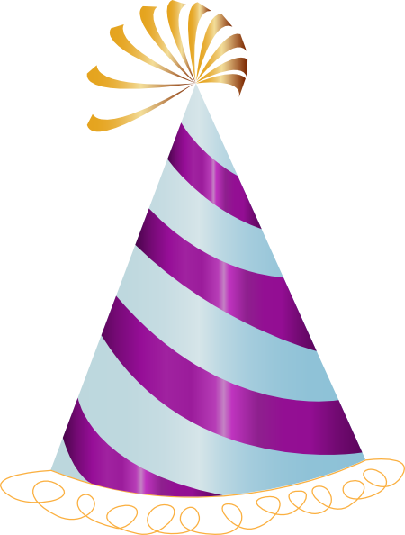 450x594 Purple Party Hat Clip Art