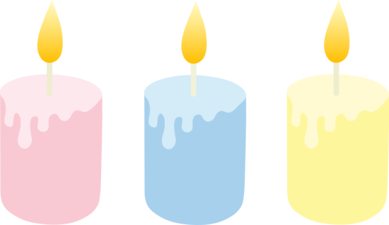 550x318 Three Pastel Colored Candles
