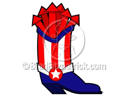 432x324 Patriotic Cowboy Boot Clip Art 4th Of July Cowboy Boot Clipart