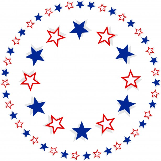 615x615 Patriotic Star Border Free Stock Photo
