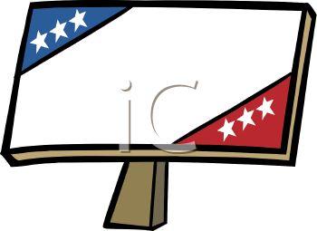 350x255 Royalty Free Clip Art Image Patriotic Campaign Sign