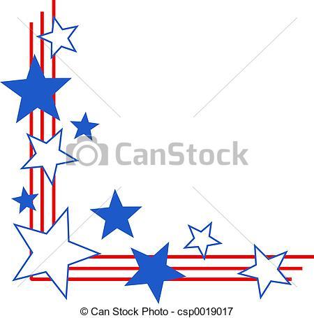 450x455 Patriotic Clip Art Borders Patriotic Border Patriotic Stars
