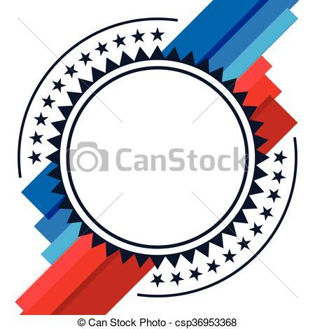 450x470 American Patriotic Abstract Design. American Patriotic Clip Art