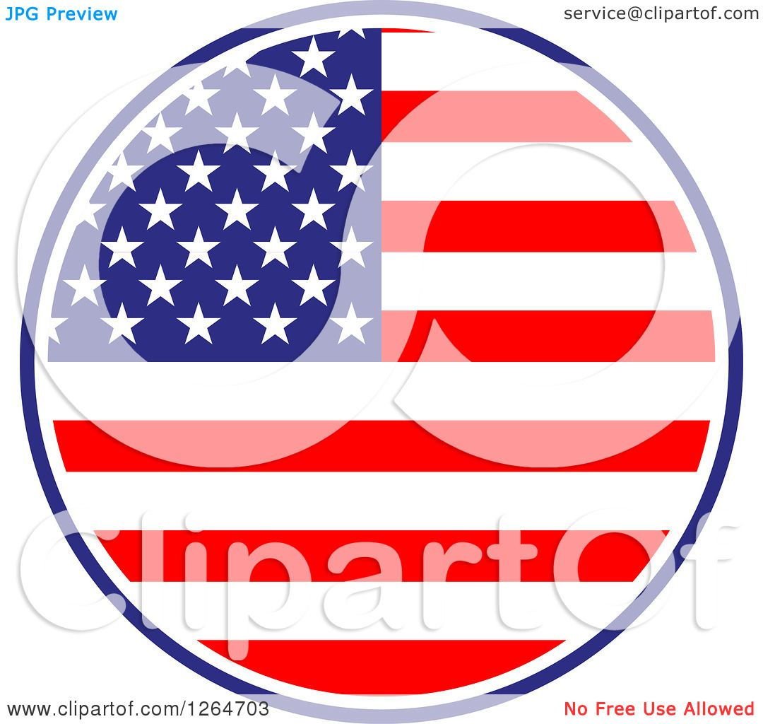 1080x1024 Clipart Of A Patriotic American Stars And Stripes Flag Circle