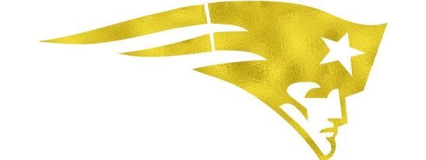 610x229 Patriots Light Gold Foil Clipart