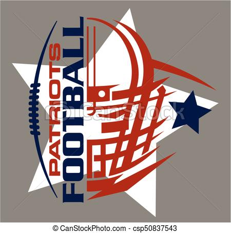 450x453 Patriots Football Team Design With Helmet, Stars And Eps Vector