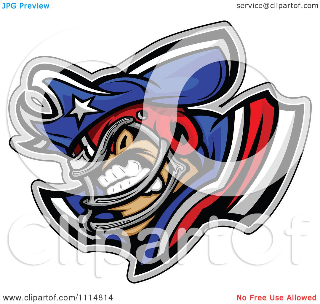 1080x1024 Clipart Competitive Patriot Football Player Mascot With Shoulder