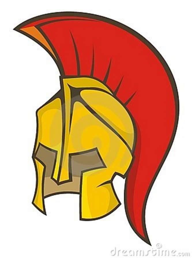 666x900 Roman Helmet Clipart