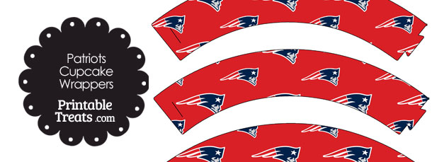610x229 New England Patriots Logo Cupcake Wrappers Printable