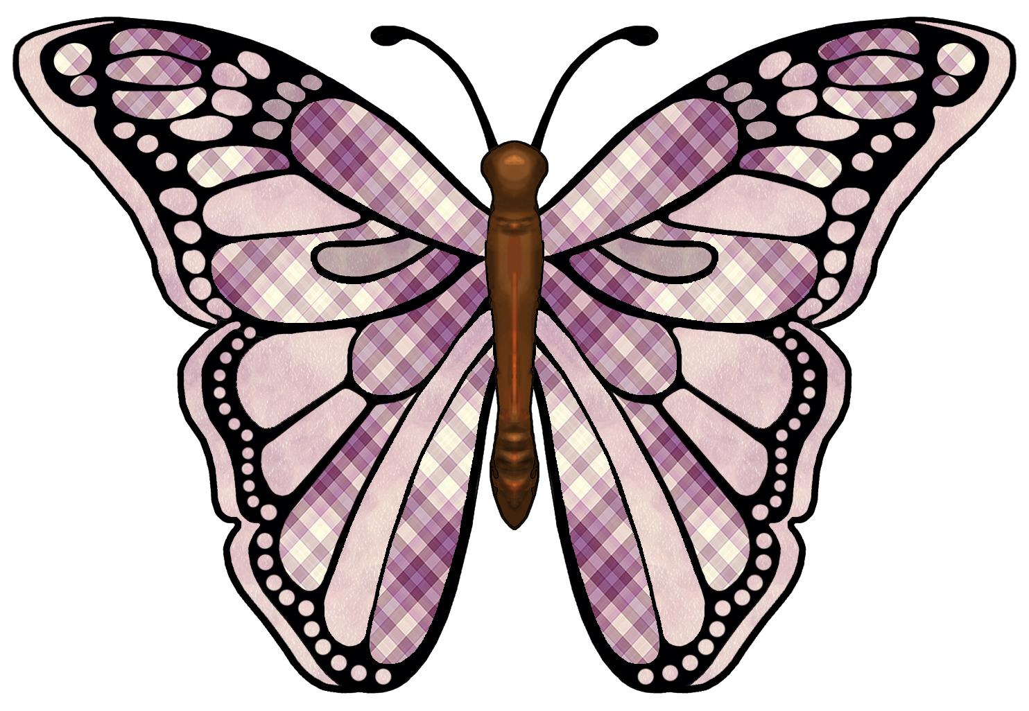 1484x1026 Clip Art Butterfly Wings Pattern Clipart