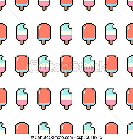 448x470 Ice Cream Pixel Pattern. Ice Cream Summer Pattern Seamless