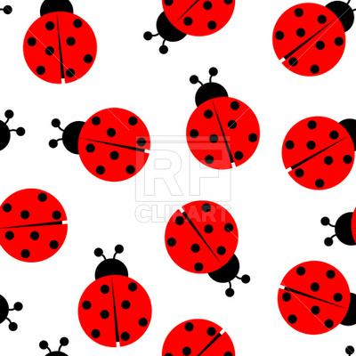 400x400 Ladybug Seamless Pattern Royalty Free Vector Clip Art Image