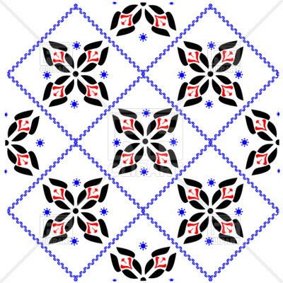 400x400 Simple Ethnic Seamless Pattern Royalty Free Vector Clip Art Image