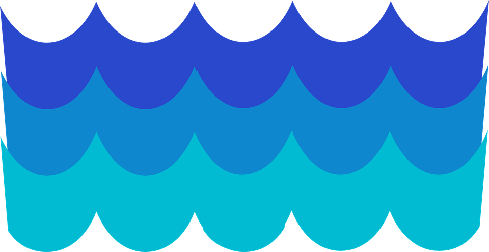 960x496 Water Waves Clipart Waves Pattern Blue Free Vector Graphic