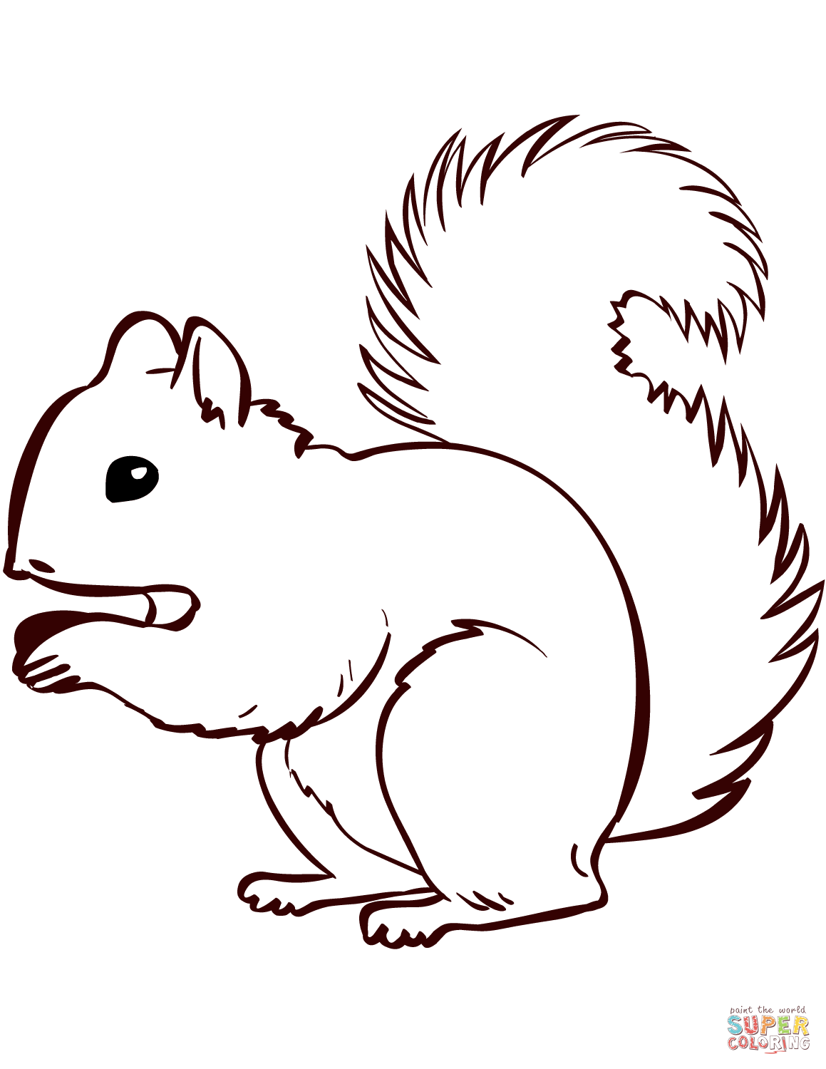 1159x1500 Security Printable Coloring Pages Of Squirrels Squirrel Page Free