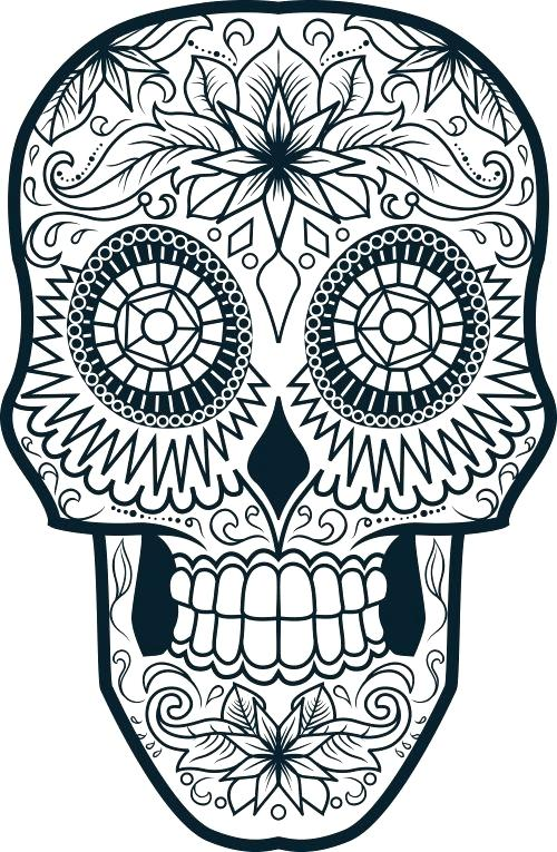500x765 Sugar Skull Color Pages Skull Coloring Pages Skull Coloring Pages