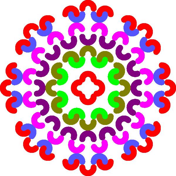 600x600 Colorful Flower Decoration Clip Art