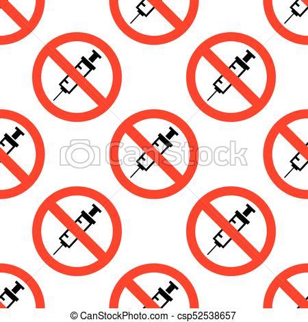 450x470 No Drug Sign No Vaccine Icon Seamless Pattern On White