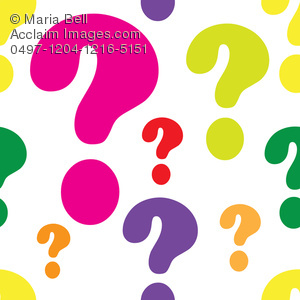 300x300 Question Mark Seamless Background Pattern Clipart Image