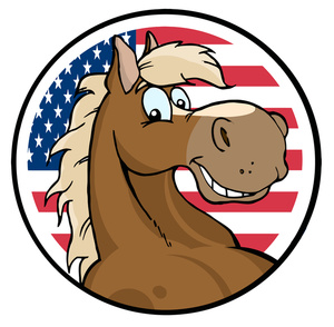 300x294 Patriotic Horse Clipart Amp Patriotic Horse Clip Art Images