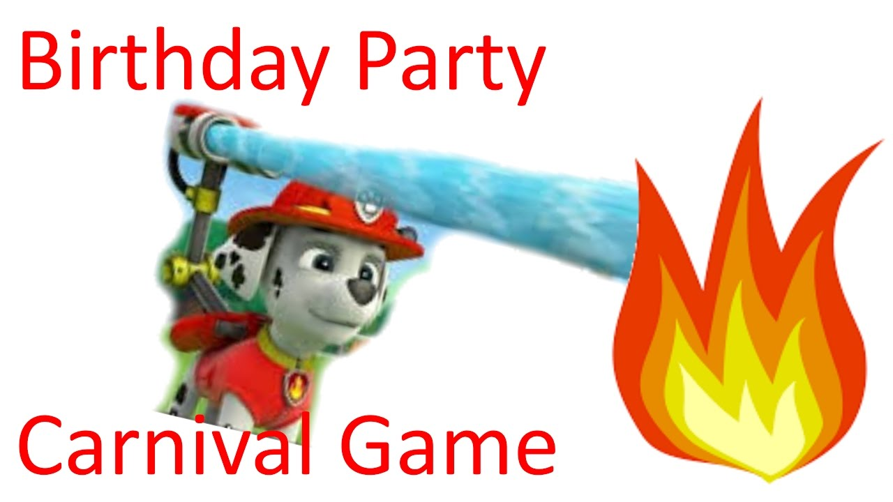 1280x720 How To Paw Patrol Birthday Party Carnival Game Bean Bag Fire