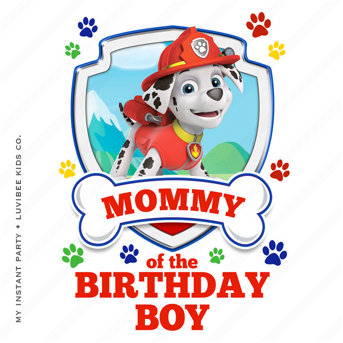 690x690 Marshall Paw Patrol Mommy Of My Instant Party Company