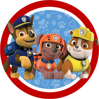 335x335 Paw Patrol In Red And Blue Free Printable Party Kit. Party (Paw