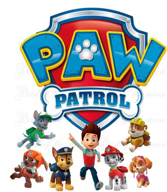 570x654 Instant Download Paw Patrol Team Printable Diy By Birdofthemoon