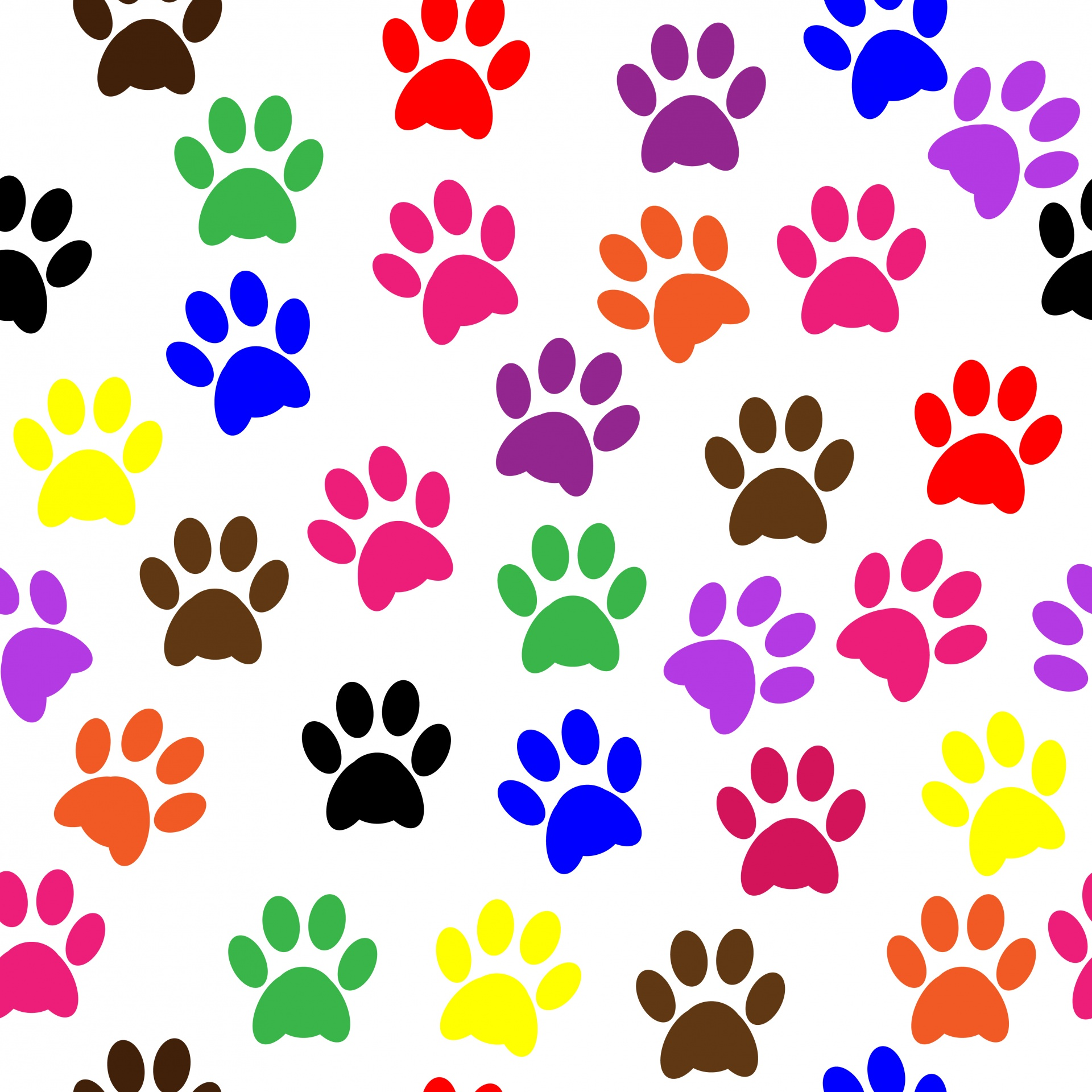 1920x1920 Dog Paw Print Vector 4657362