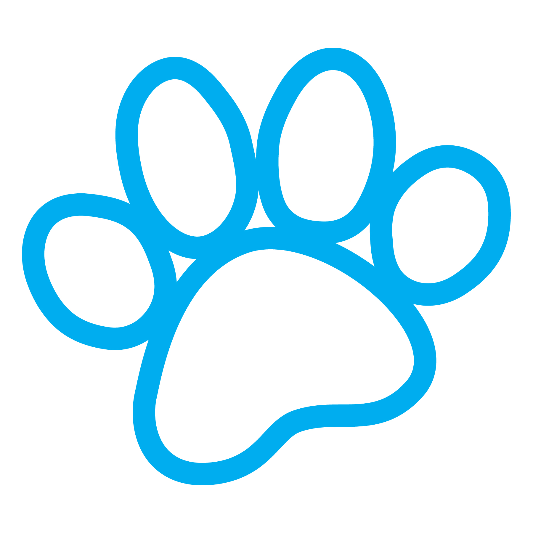 1800x1800 Paw Clipart Blue Dog