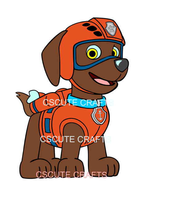 "2.5/""-3.5/"" Paw patrol rocky dog heat transfer iron on character"