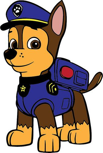 """2.5/""""-3.5/"""" Paw patrol chase dog heat transfer iron on character"""