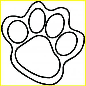 300x300 Wildcat Paw Print Clip Art Free Paw Print Trail Clipart Kid