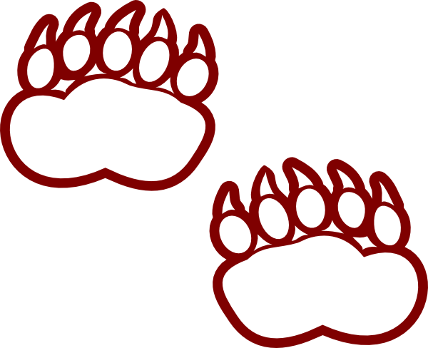 600x488 Bear Paw Clip Art