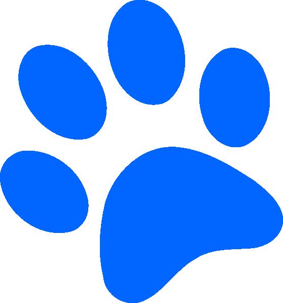 558x597 Blue Paw Print Clip Art Clipart Panda