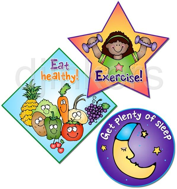 597x638 Eat Healthy, Exercise, Sleep, Health Clip Art, Health Class, Clip
