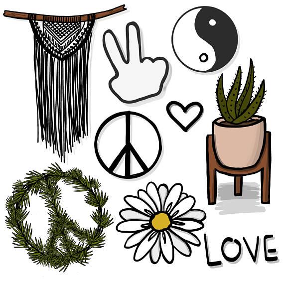 570x570 Hippie Peace Love Clipart. 9 Png Files. Transparent