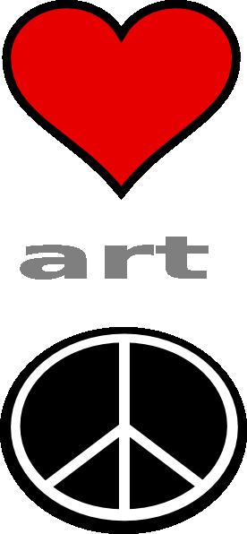 276x596 Love Art Peace Clip Art