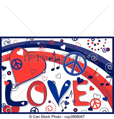 450x470 Love And Peace Illustrations And Clip Art. 22,579 Love And Peace